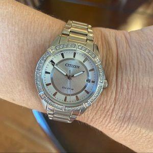 Citizen Silver Crystal Watch